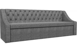 Кухонный прямой диван Мерлин Серый (Рогожка)
