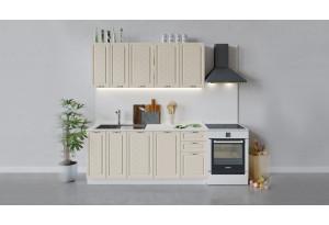 Кухонный гарнитур «Бьянка» длиной 180 см (Белый/Дуб ваниль)