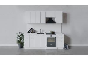 Кухонный гарнитур «Весна» длиной 220 см (Белый/Белый глянец)