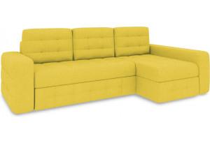 Диван угловой правый «Райс Т2» (Neo 08 (рогожка) желтый)
