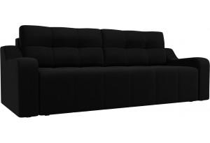 Прямой диван Итон Черный (Микровельвет)