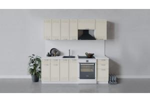 Кухонный гарнитур «Долорес» длиной 220 см (Белый/Крем)