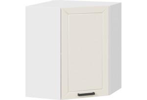 Шкаф навесной угловой «Лорас» (Белый/Холст брюле)
