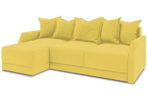 Диван угловой левый «Люксор Slim Т1» (Neo 08 (рогожка) желтый)