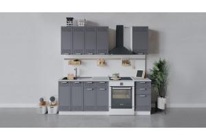 Кухонный гарнитур «Долорес» длиной 160 см (Белый/Титан)