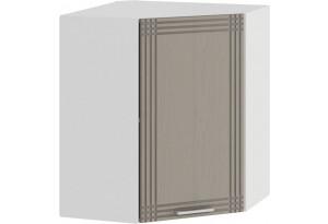 Шкаф навесной угловой «Ольга» (Белый/Кремовый)