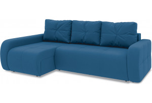Диван угловой левый «Томас Т2» Beauty 07 (велюр) синий