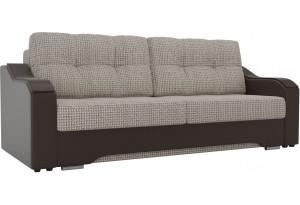 Прямой диван Браун бежевый/коричневый (Корфу)