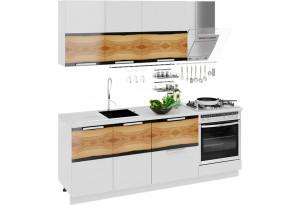 Кухонный гарнитур длиной - 210 см (со шкафом НБ) Фэнтези (Вуд)