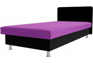 Кровать Мальта Фиолетовый/Черный (Микровельвет)