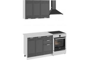 Кухонный гарнитур «Долорес» стандартный набор (Белый/Титан)