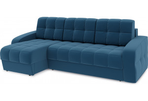 Диван угловой левый «Аспен Т1» Beauty 07 (велюр) синий