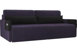 Прямой диван Армада Фиолетовый/Черный (Велюр)