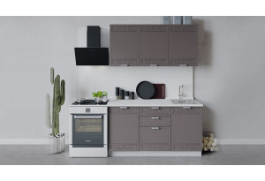 Кухонный гарнитур «Долорес» длиной 150 см (Белый/Муссон)