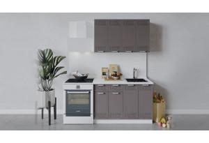 Кухонный гарнитур «Долорес» длиной 120 см (Белый/Муссон)