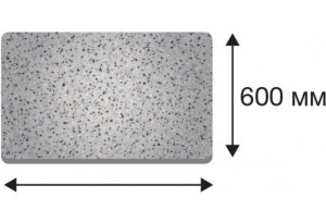 Крышка стола в размер прямая от 1510 до 3000 (Дуб сонома трюфель, 40х600х1850)