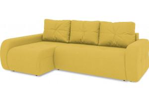 Диван угловой левый «Томас Т2» (Neo 08 (рогожка) желтый)