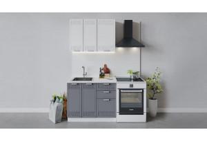 Кухонный гарнитур «Долорес» длиной 100 см (Белый/Сноу/Титан)