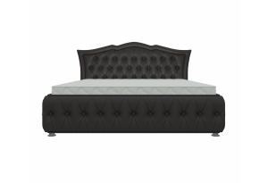 Интерьерная кровать Герда 200 Коричневый (Экокожа)