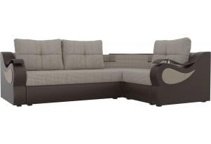 Угловой диван Митчелл Корфу 02/коричневый (Корфу/экокожа)
