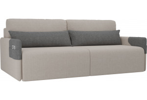 Прямой диван Армада бежевый/Серый (Рогожка)