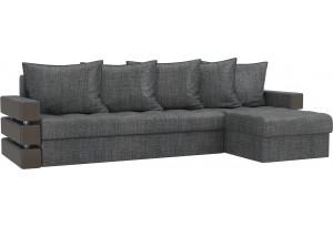 Угловой диван Венеция Серый (Рогожка)