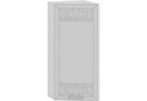 Шкаф навесной торцевой «Долорес» (Белый/Сноу)