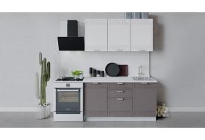 Кухонный гарнитур «Долорес» длиной 150 см (Белый/Сноу/Муссон)