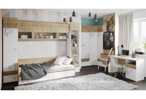 Набор детской мебели «Оксфорд» №2 Ривьера/Белый с рисунком