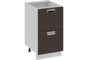 Шкаф напольный с 2-мя ящиками БЬЮТИ (Грэй) 450x582x822