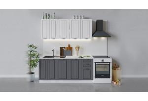 Кухонный гарнитур «Лина» длиной 180 см (Белый/Белый/Графит)