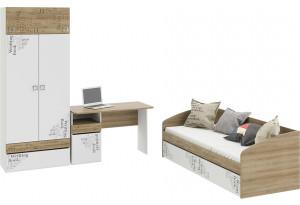 Набор детской мебели «Оксфорд» стандартный Ривьера/Белый с рисунком