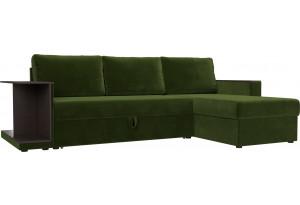 Угловой диван Атланта С Зеленый (Микровельвет)