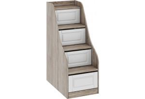 Лестница приставная с ящиками «Прованс» Дуб Сонома трюфель/Крем