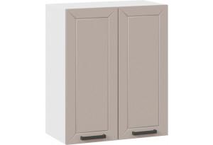 Шкаф навесной c двумя дверями «Лорас» (Белый/Холст латте)