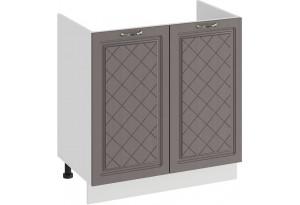 Шкаф напольный с двумя дверями (под накладную мойку) «Бьянка» (Белый/Дуб серый)