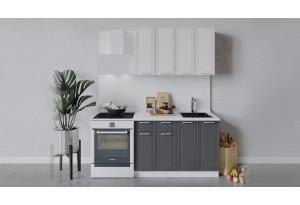 Кухонный гарнитур «Ольга» длиной 120 см (Белый/Белый/Графит)