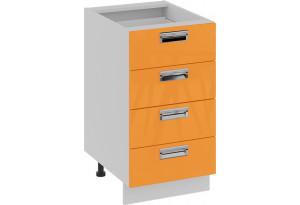 Шкаф напольный с 4-мя ящиками (БЬЮТИ (Оранж))