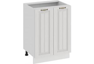 Шкаф напольный с двумя дверями «Лина» (Белый/Белый)