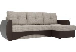 Угловой диван Сатурн Корфу 02/коричневый (Корфу/экокожа)