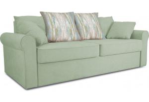 Диван «Шерри» Neo 05 (рогожка) мятный, подушки Tiffany laguna (шинил) морская волна