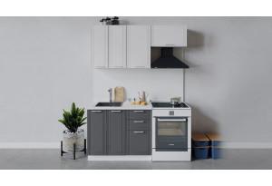 Кухонный гарнитур «Ольга» длиной 160 см (Белый/Белый/Графит)