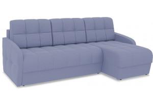 Диван угловой правый «Аспен Slim Т1» (Poseidon Blue Graphite (иск.замша) серо-фиолетовый)