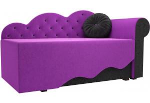 Детская кровать Тедди-1 Фиолетовый/Черный (Микровельвет)