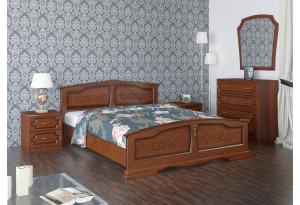 Кровать Елена из массива