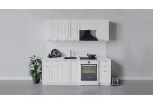 Кухонный гарнитур «Бьянка» длиной 220 см (Белый/Дуб белый)