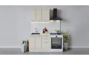 Кухонный гарнитур «Долорес» длиной 100 см (Белый/Крем)