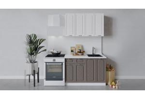 Кухонный гарнитур «Бьянка» длиной 120 см (Белый/Дуб белый/Дуб серый)