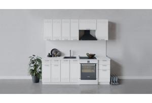 Кухонный гарнитур «Долорес» длиной 220 см (Белый/Сноу)