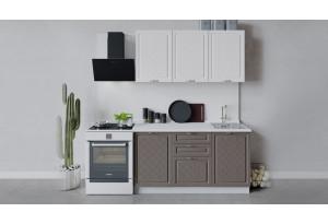 Кухонный гарнитур «Бьянка» длиной 150 см (Белый/Дуб белый/Дуб серый)